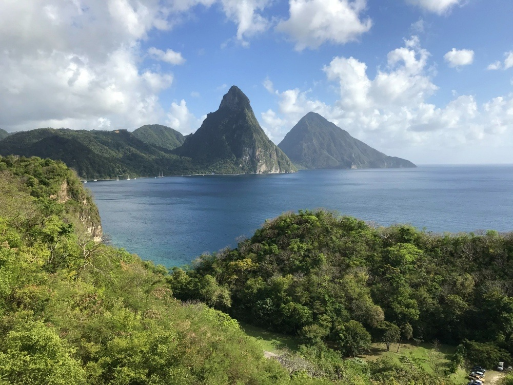 The pitons in St Lucia Photo- Heatheronhertravels.com