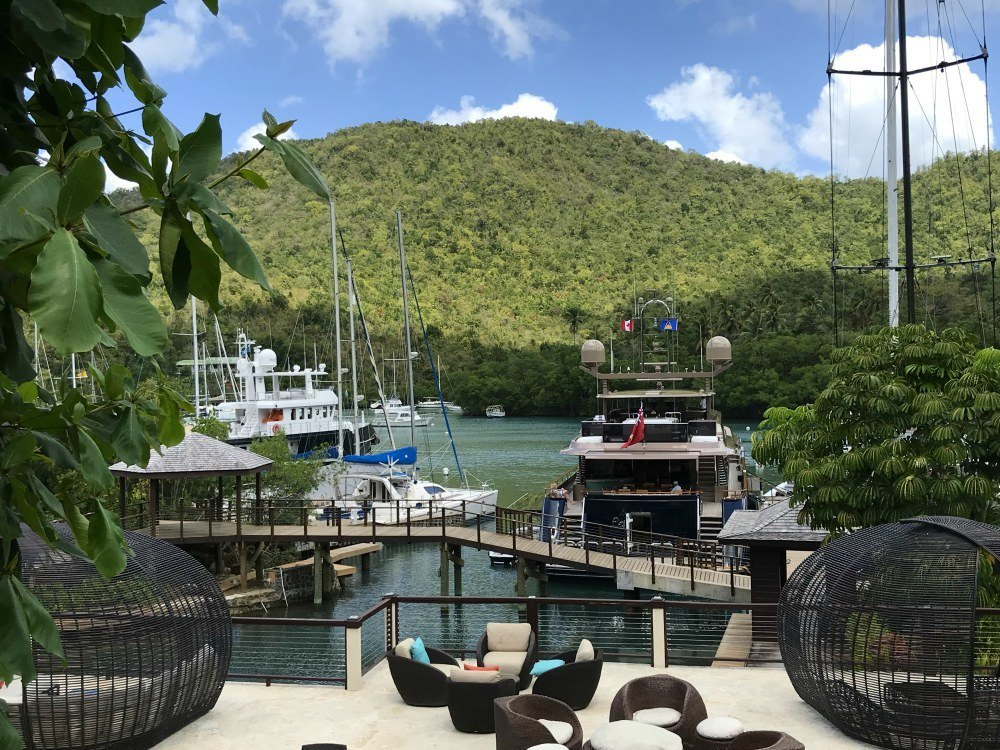 View from Marigot Bay Resort St Lucia