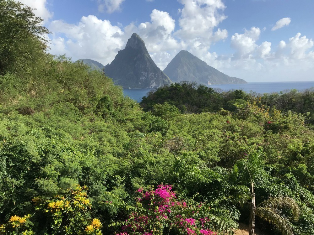 View of The Pitons St Lucia - Things to do in St Lucia Photo Heatheronhertravels.com
