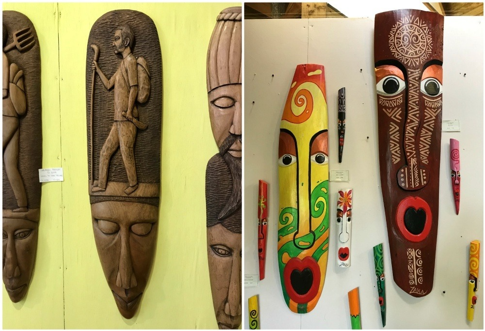 Things to do in Saint Lucia - Wood Carvings and Masks at Anse Chastanet in St Lucia - Things to do in St Lucia Photo Heatheronhertravels.com