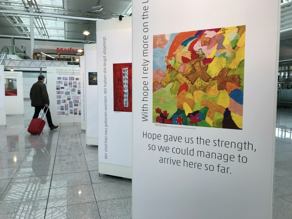 Art Gallery at Munich Airport Photo Heatheronhertravels.com