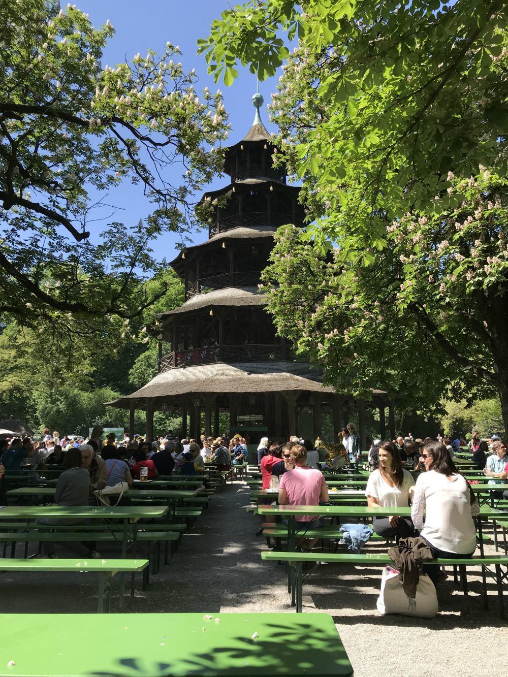 Chinese Pagoda in Englischer Garten Munich Photo Heatheronhertravels.com