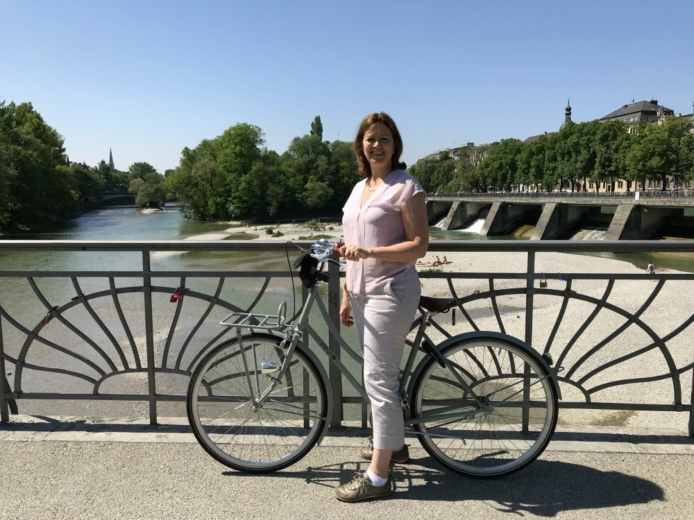 Cycling by the River Isar in Munich Photo Heatheronhertravels.com