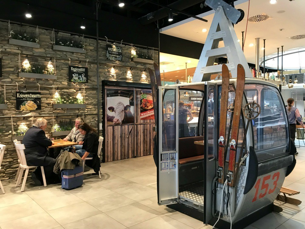 Sportsalm cafe at Munich Airport Photo Heatheronhertravels.com