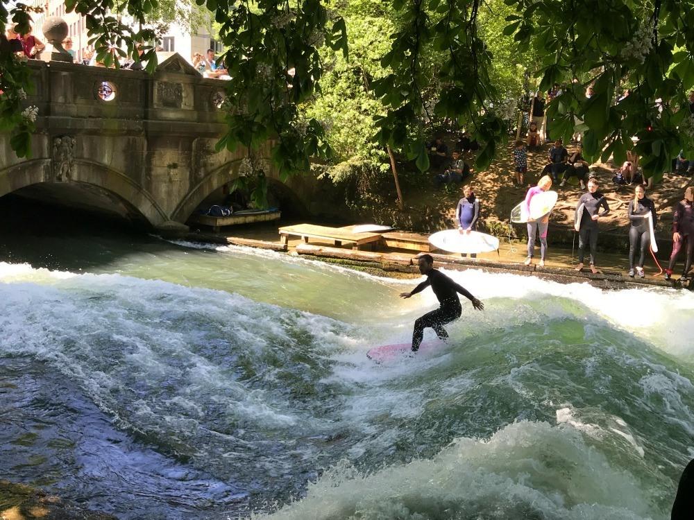 Surfers on the Eisback Photo Heatheronhertravels.com