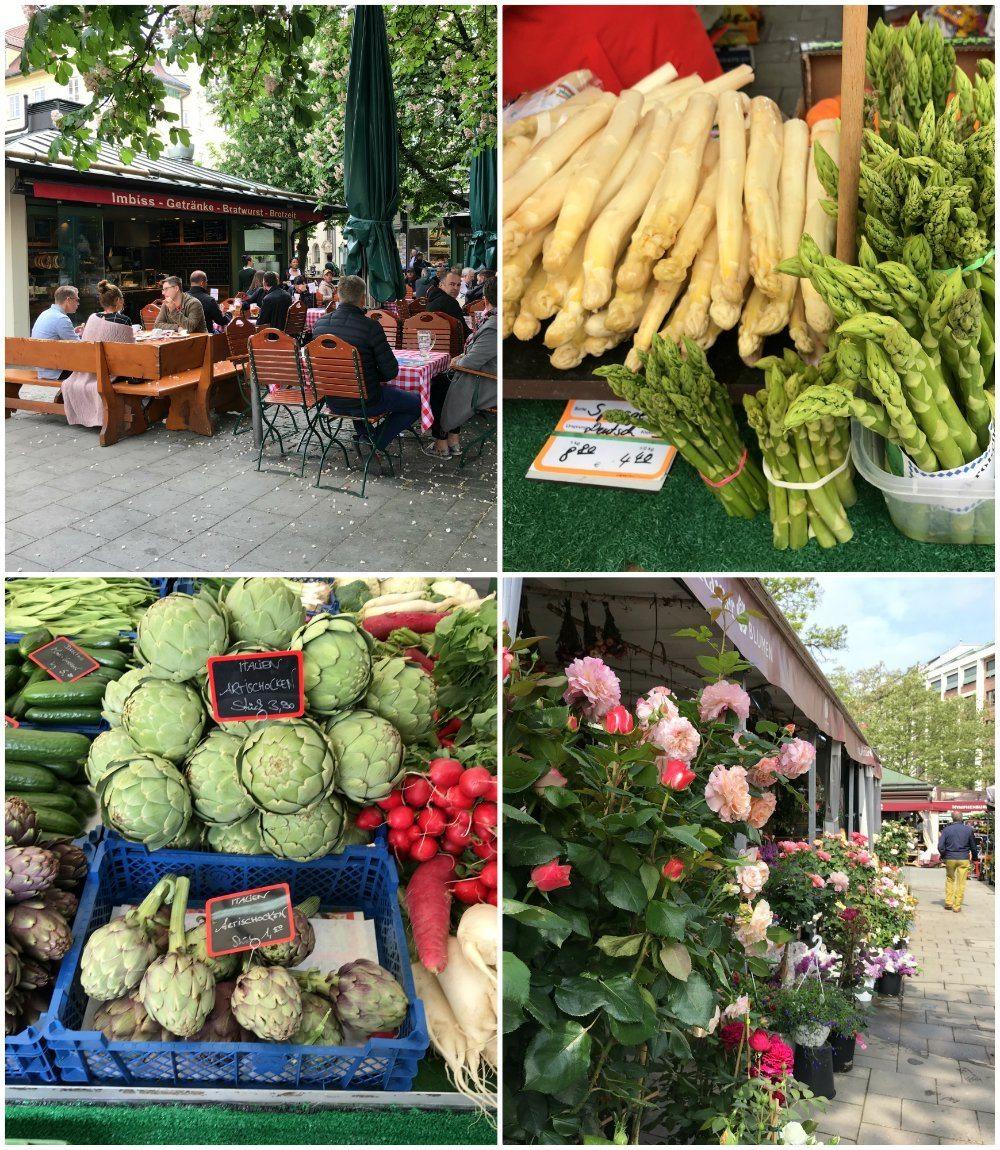 Viktualienmarkt in Munich Photo Heatheronhertravels.com