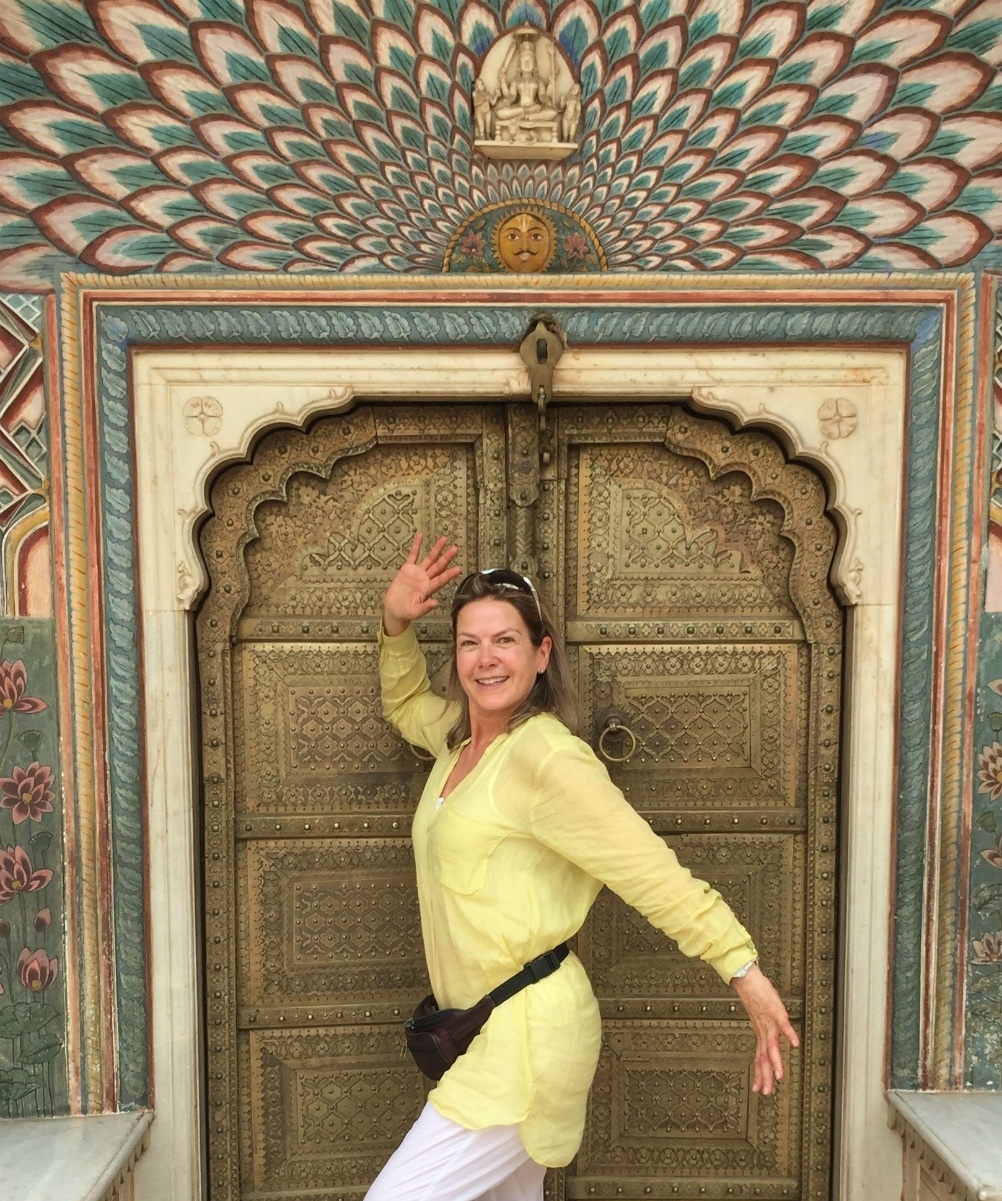 Penny Smith on Travelsphere India tour