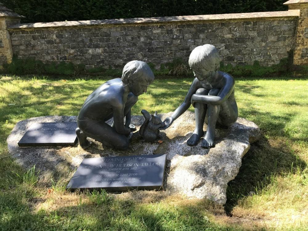Sculpture at churchyard Warner Hotels at Cricket St Thomas Photo Heatheronhertravels.com.jpg