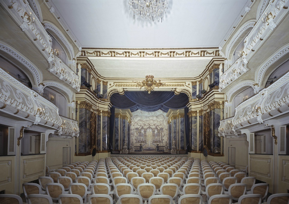Theatre at Schwetzingen Palace and Gardens in South West Germany Photo: Arnim Weischer
