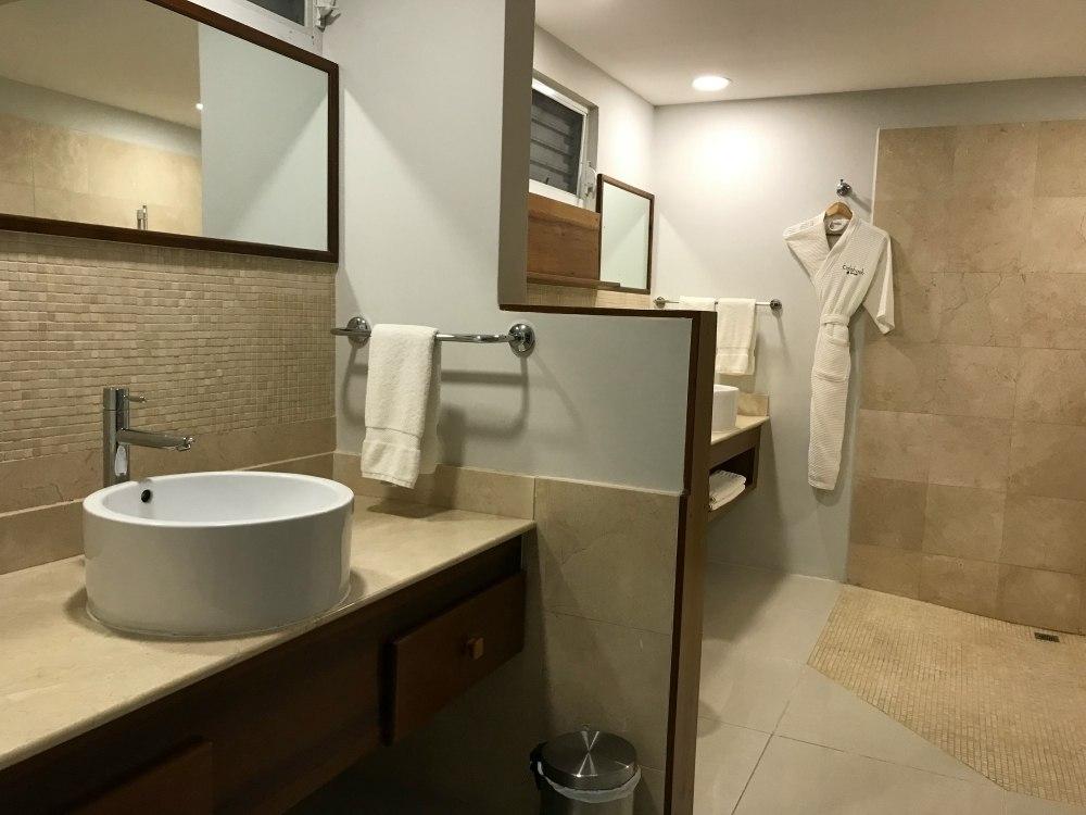 Bathroom at Calabash luxury 5 star hotel Grenada