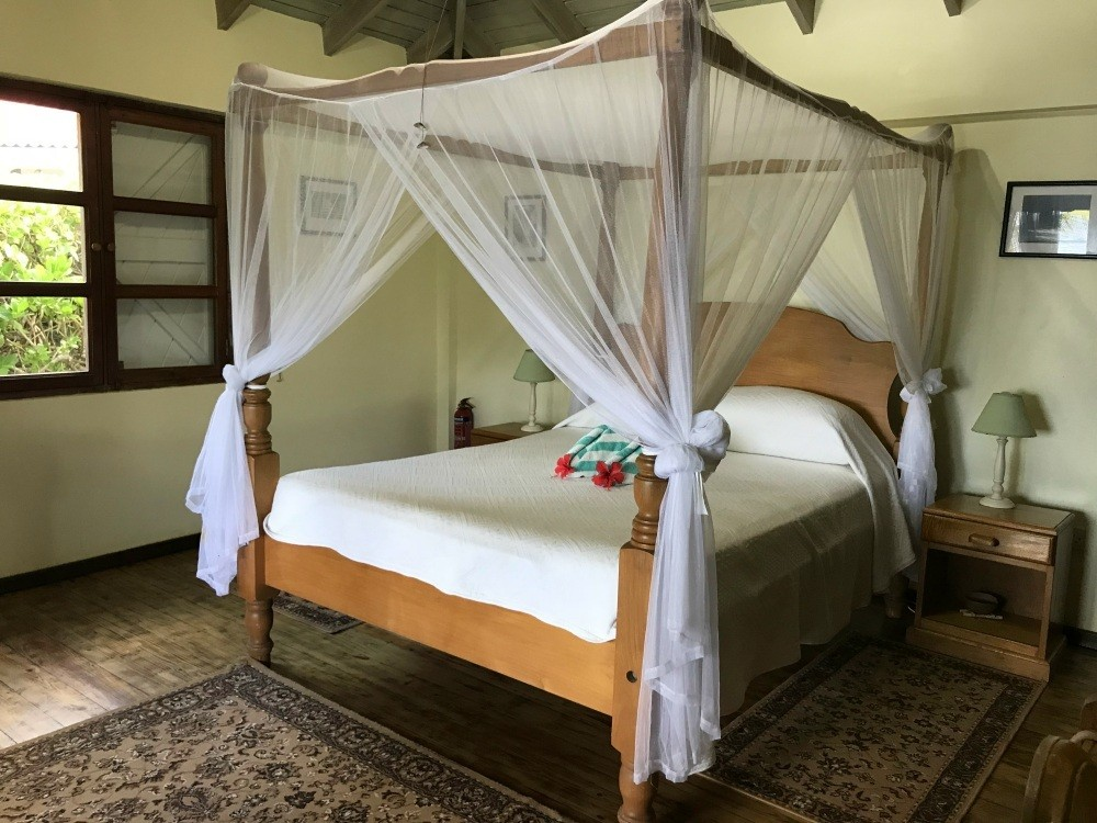 Bedroom at Petite Anse in Grenada Photo Heatheronhertravels.com