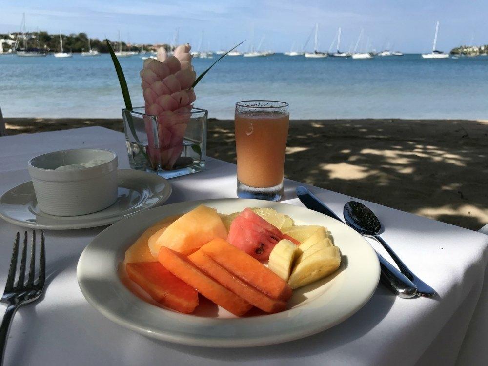 Breakfast at Calabash luxury 5 star hotel Grenada Photo Heatheronhertravels.com
