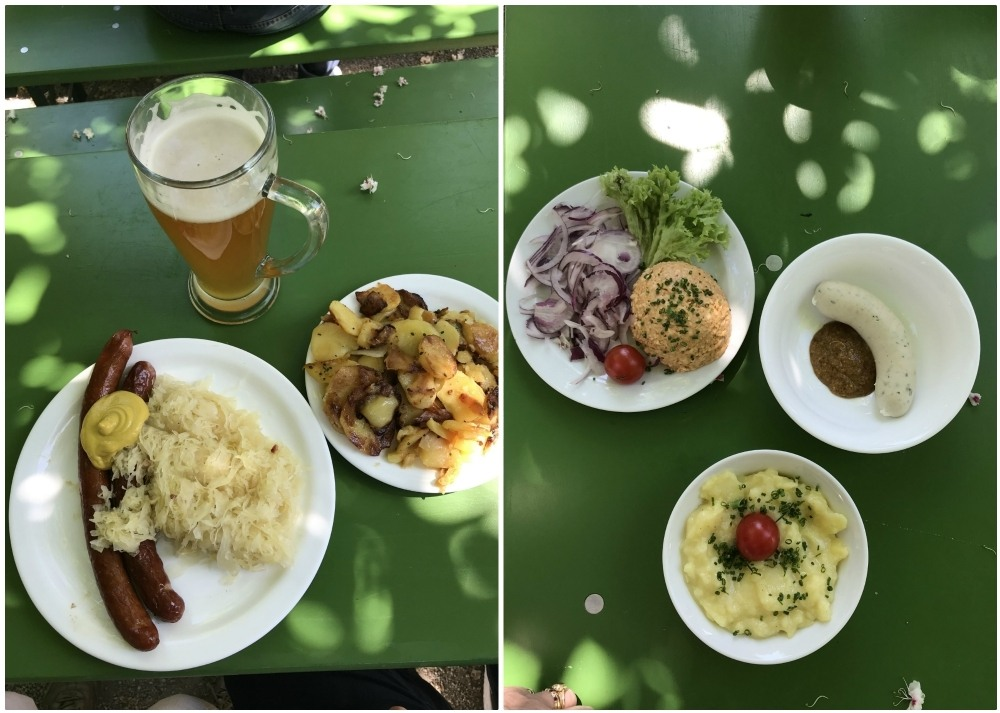 German dishes in the Chinese biergarten in Munich Photo Heatheronhertravels.com