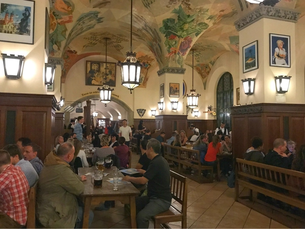 Where to eat in Munich - Hoffbrau beer Hall in Munich Photo Heatheronhertravels.com