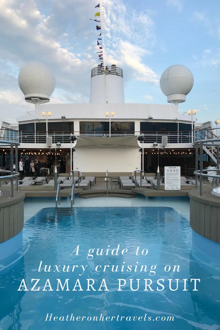 Luxury cruising on Azamara Pursuit the new ship from Azamara Club Cruises