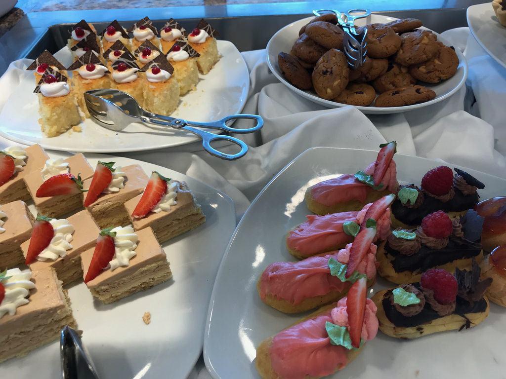 Cakes in Mosaic Cafe on Azamara Pursuit with Azamara Club Cruises Photo Heatheronhertravels.com