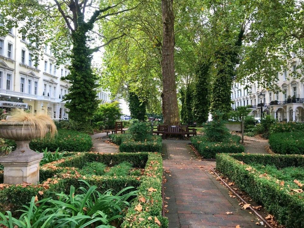 Norfolk Square Gardens in Paddington Photo Heatheronhertravels.com
