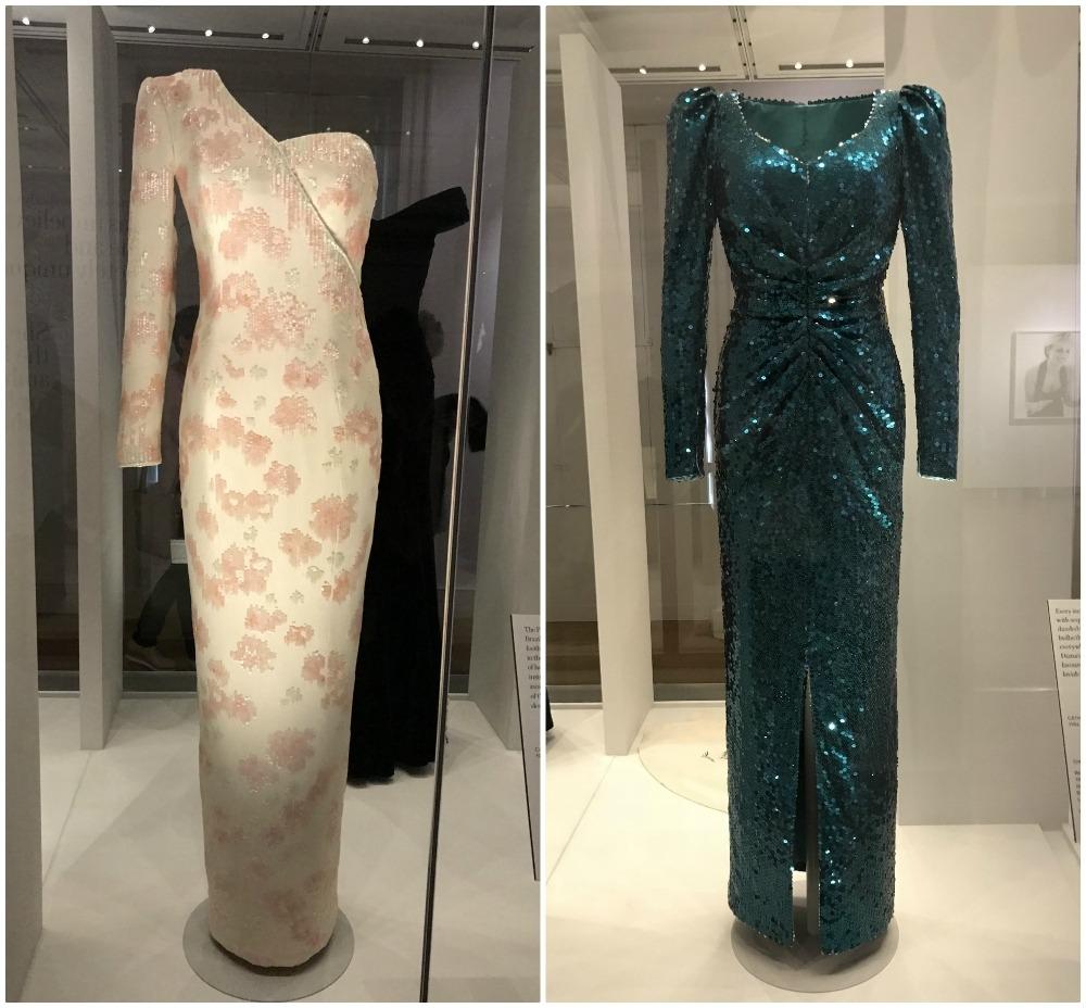 Dresses worn by Princess Diana at Kensington palace Photo Heatheronhertravels.com
