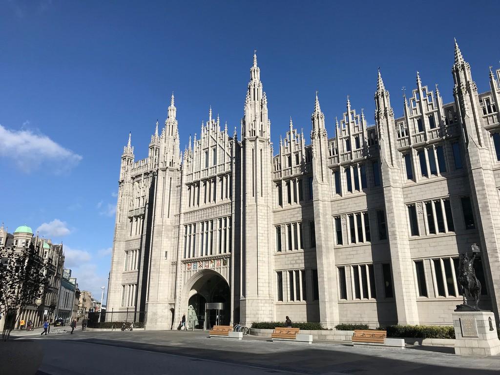Marischal College Aberdeen - weekend in Aberdeen with Flybmi