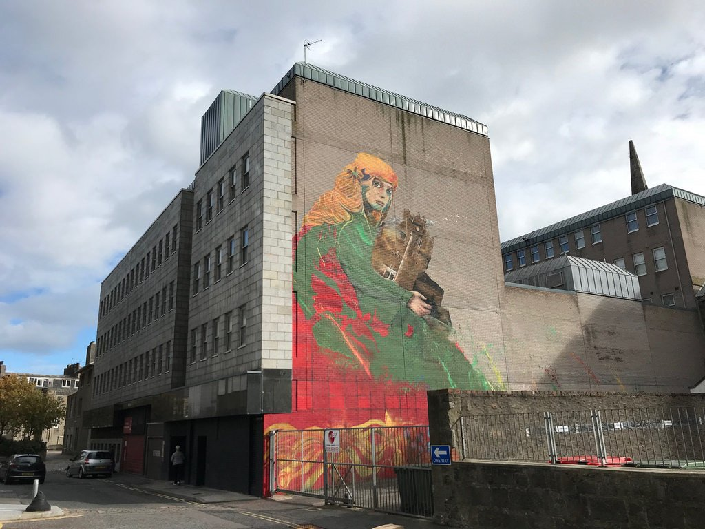Nuart Aberdeen streetart - things to do in Aberdeen with FlyBmi