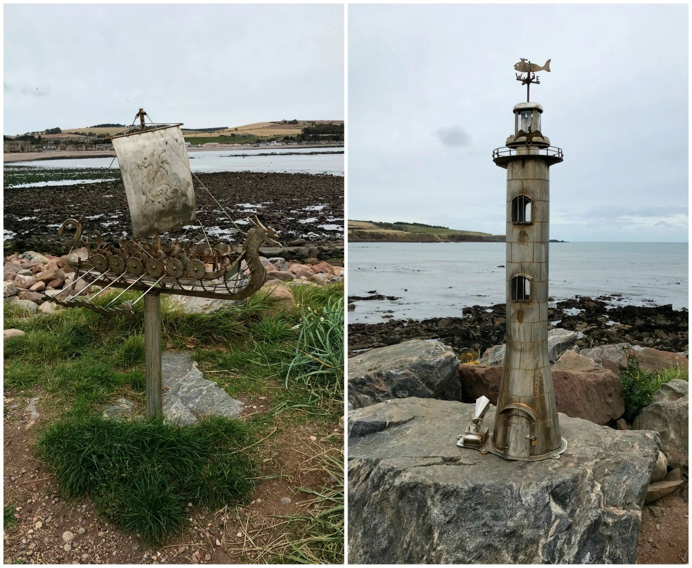 Sculptures at Stonehaven Aberdeenshire - things to do in Aberdeen with FlyBmi
