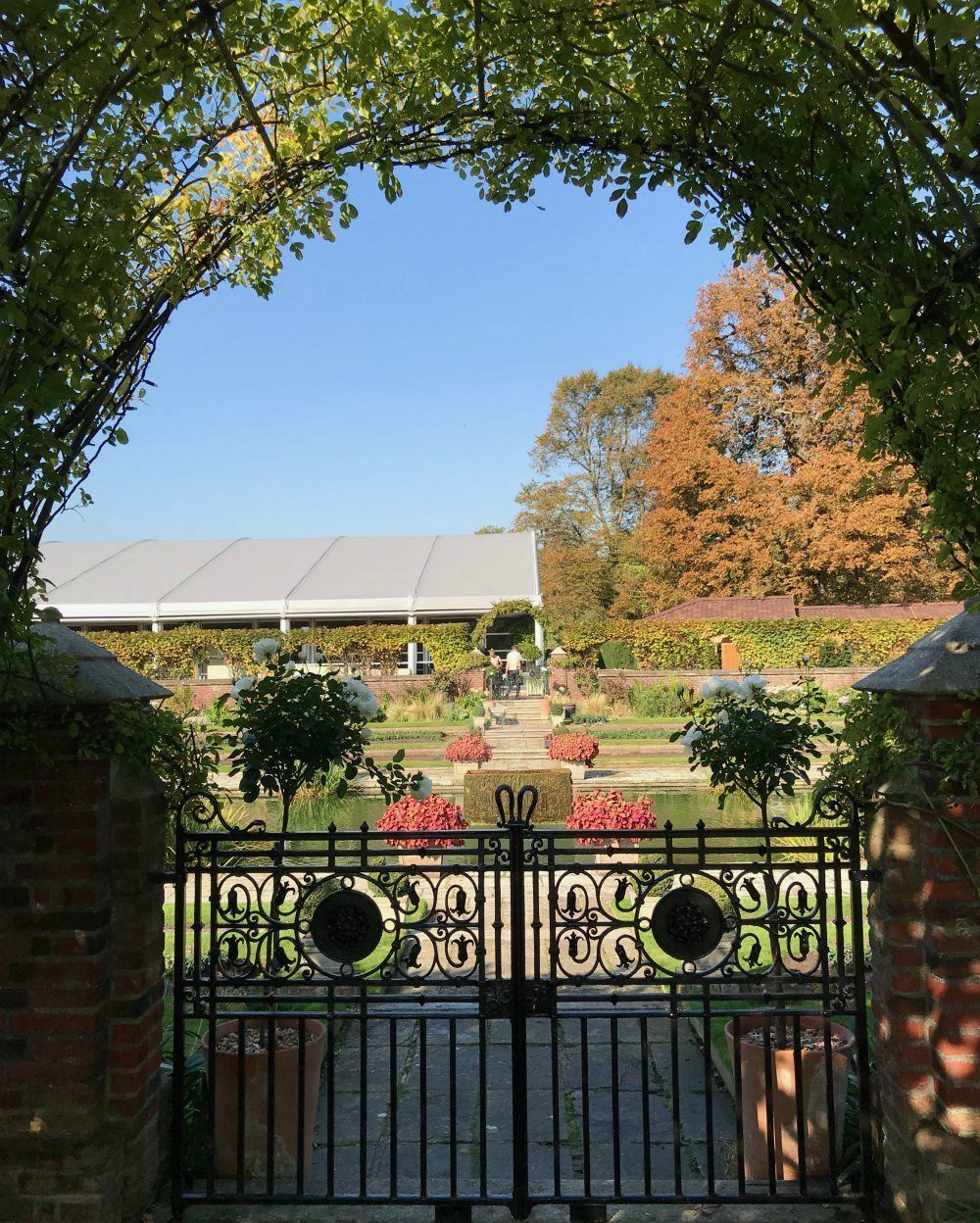 Sunken garden at Kensington Palace, London Photo: Heatheronhertravels.com