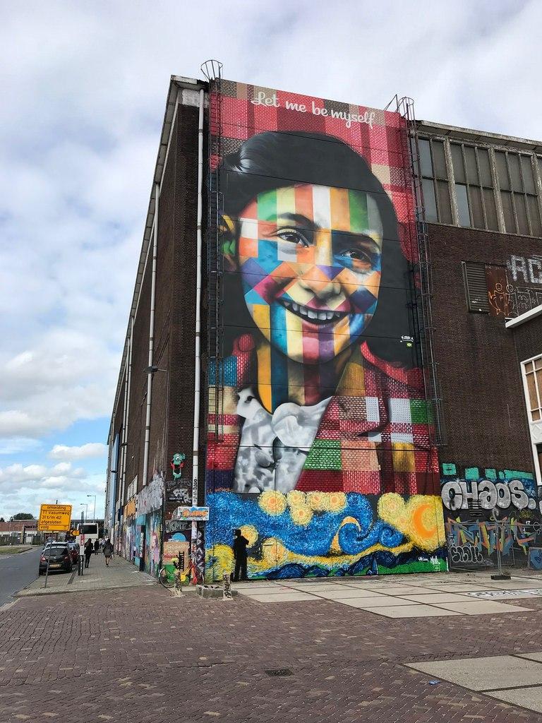Anne Frank Mural in Amsterdam