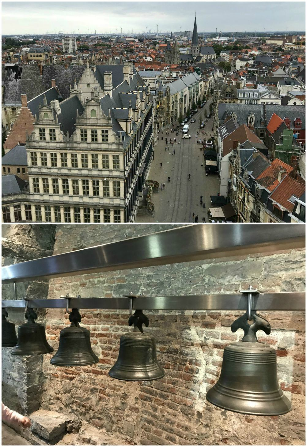 View from the bell tower in Ghent