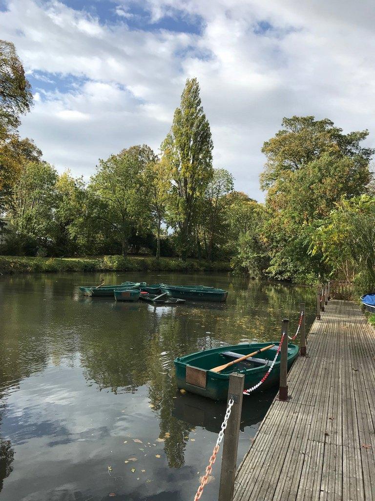 Boating lake in Pitville Park Cheltenham