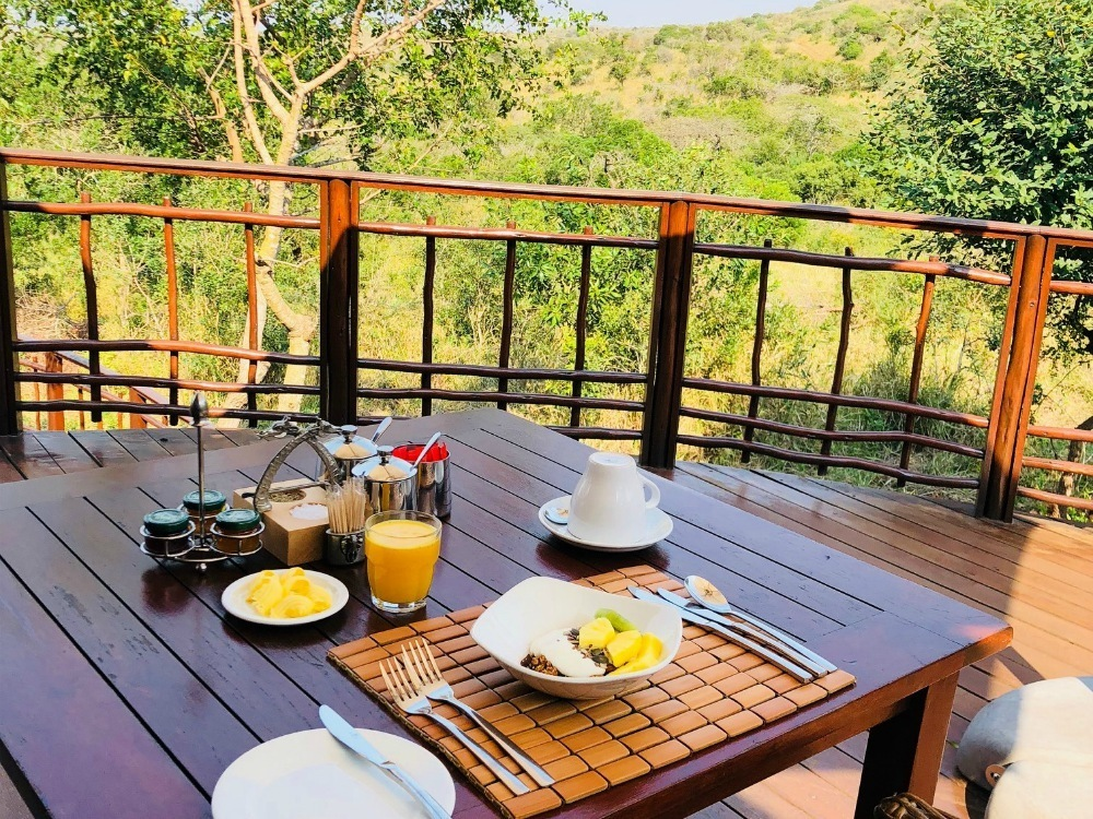 Breakfast in Thanda Game Reserve South Africa Photo Amanda O'Brien