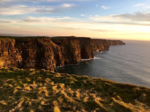 Cliffs of Moher at Sunset Wild Atlantic Way Ireland Photo Joe Saw