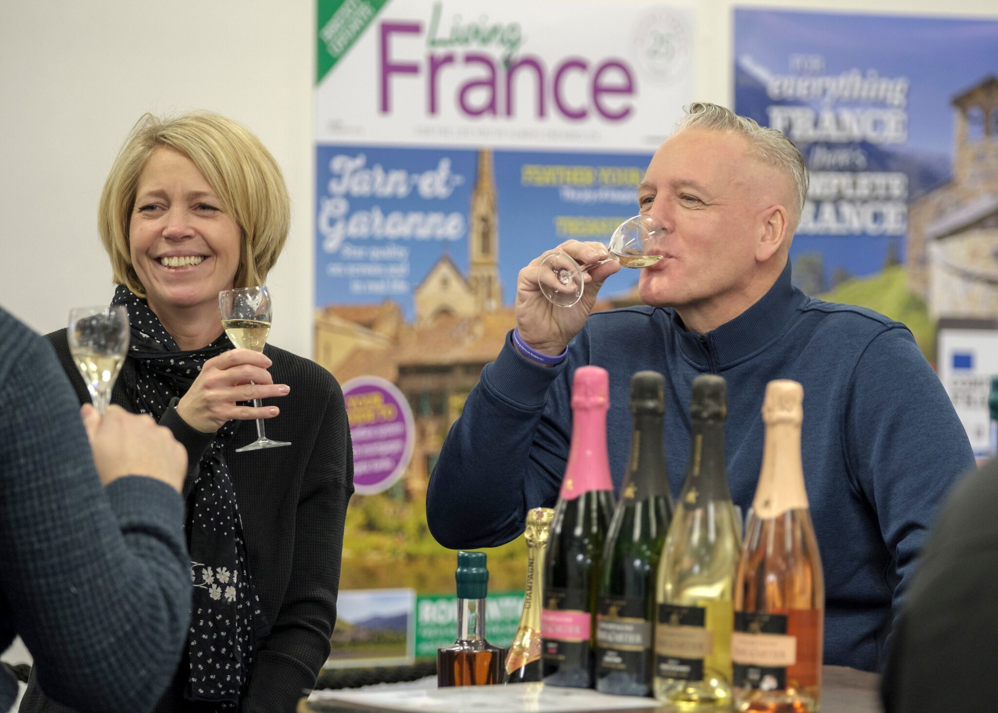Wine tasting at The France Show