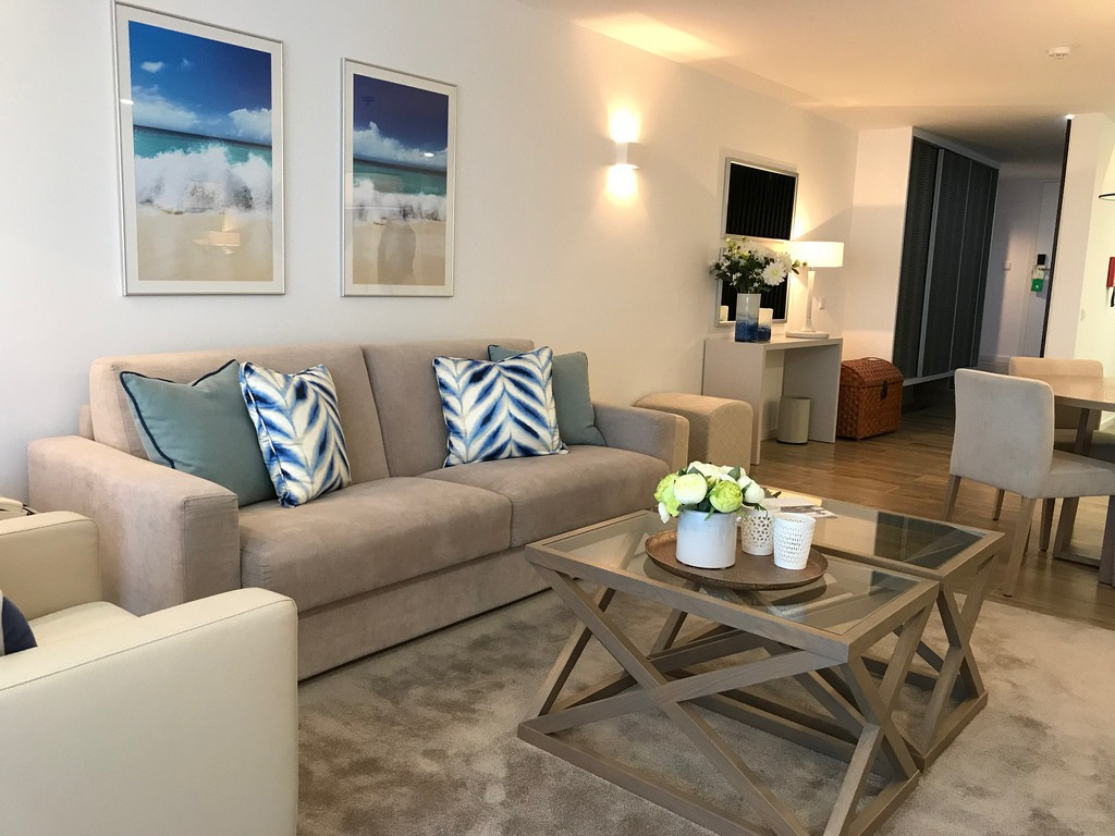New style sitting room at Quinta do Lago Country Club Photo Heatheronhertravels.com