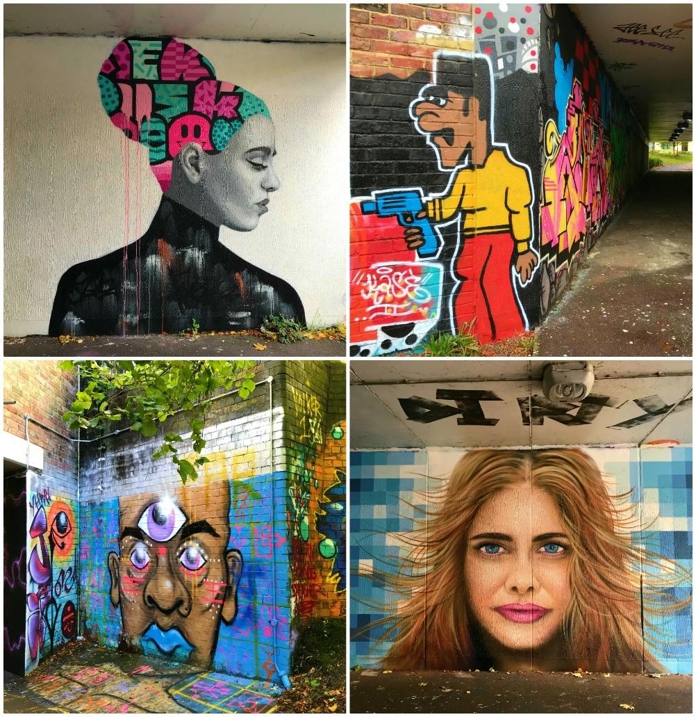 Streetart on the Honeybourne Line Cheltenham