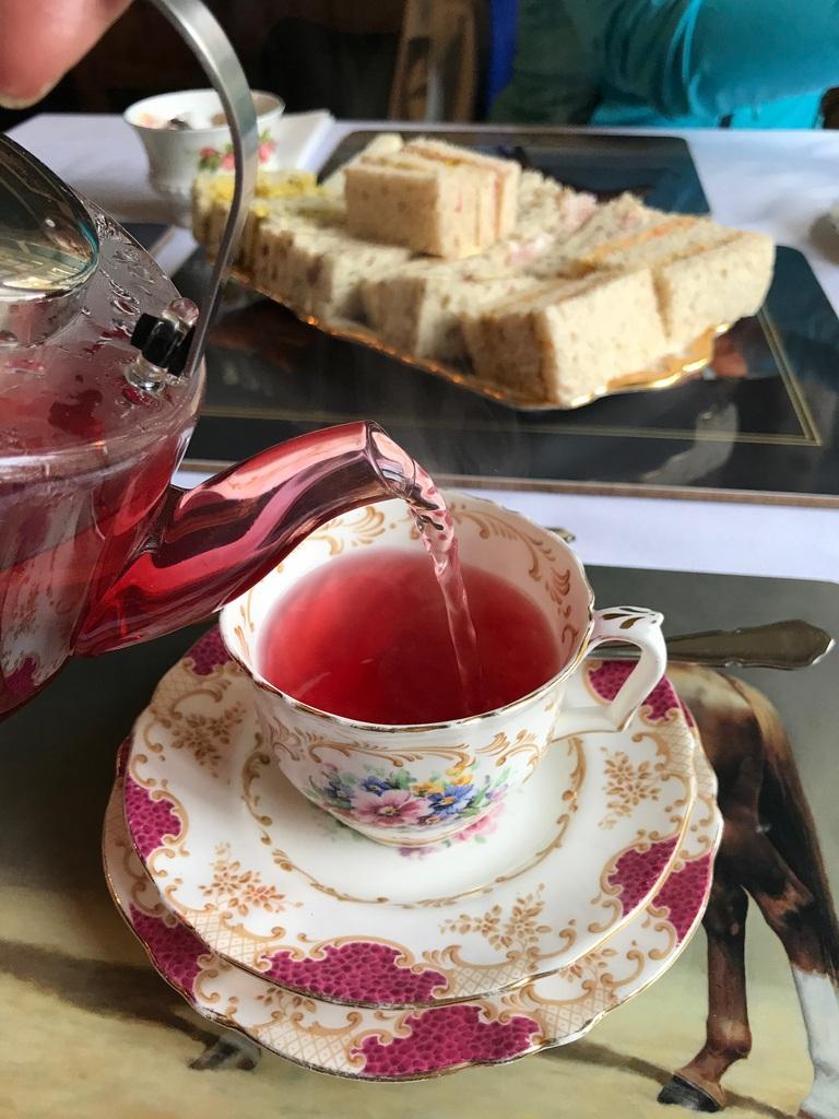 Afternoon tea at Gellihaf House in The Valleys South Wales Photo Heatheronhertravels.com