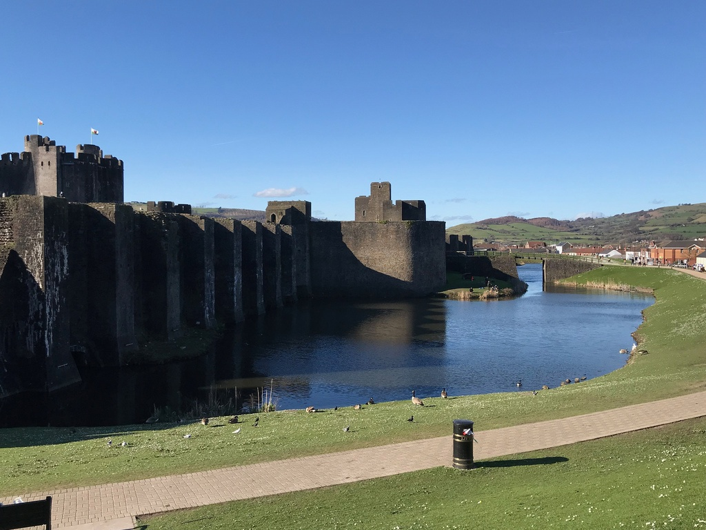 Caerphilly Castle in The Valleys Photo Heatheronhertravels.com