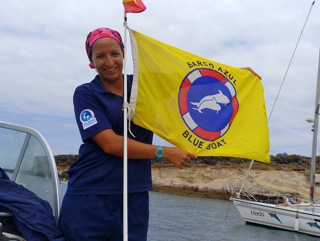 Captain Mirna of Atlantic Eco with flag signalling approved