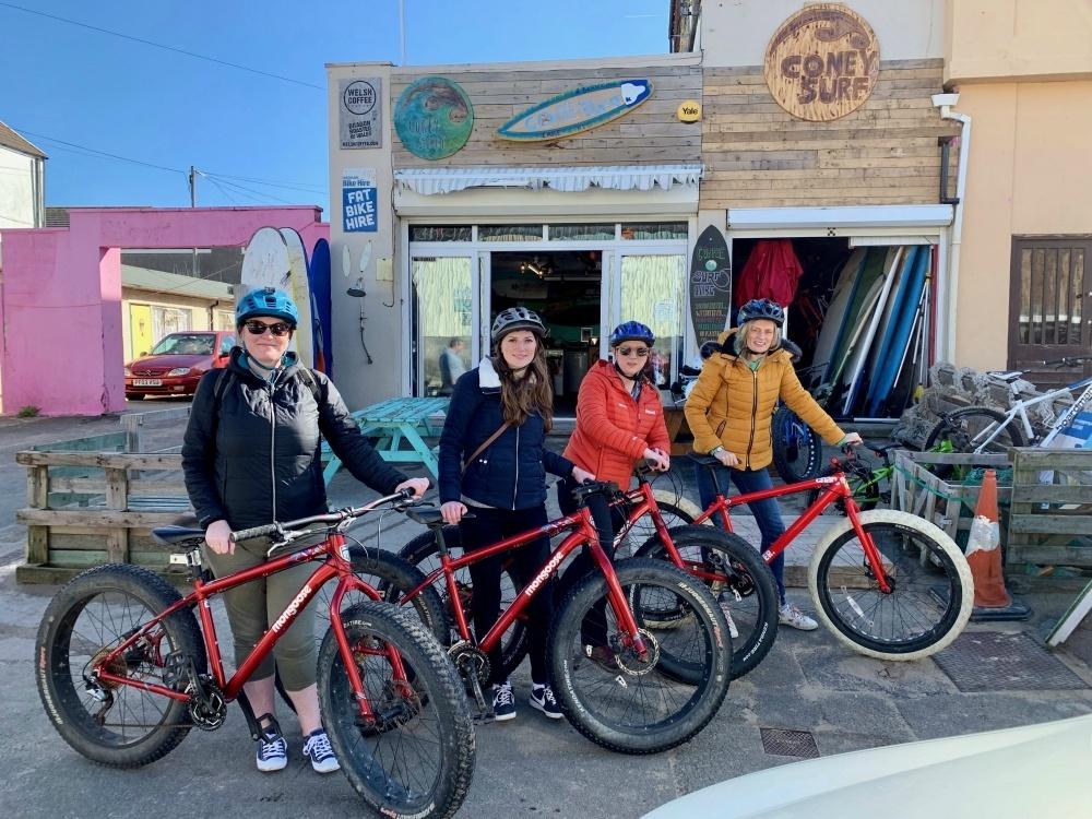 Fat Bikes at Porthcawl Copyright - Travel Loving Family