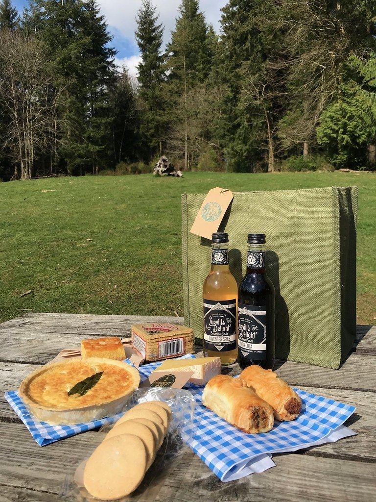 Picnic in Forest of Dean at Beechenhurst Centre Forest Deli