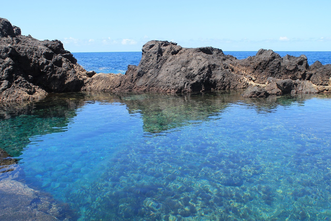 Garachico rock pools in Tenerife