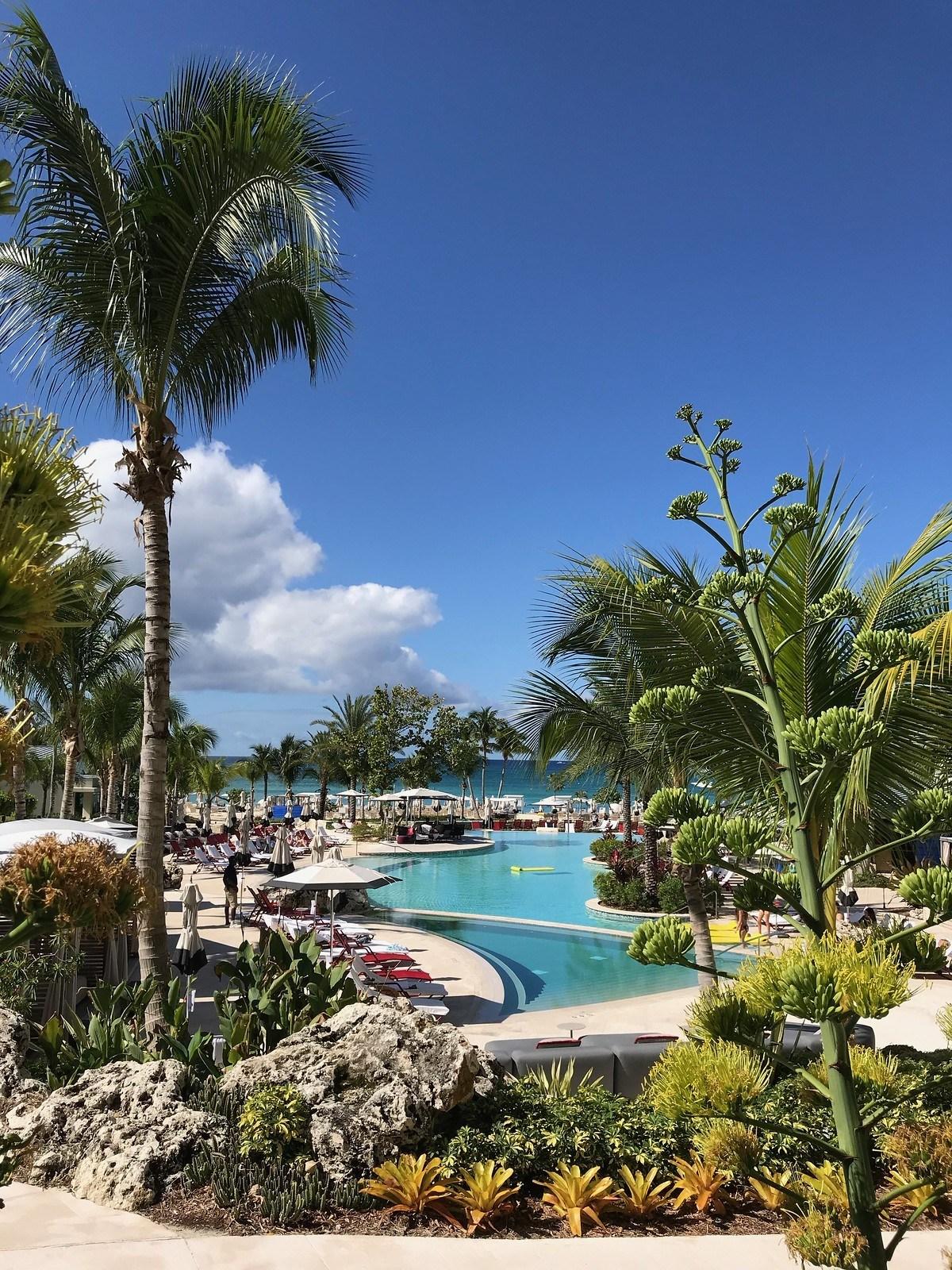 Kimpton Seafire Grand Cayman view over pools