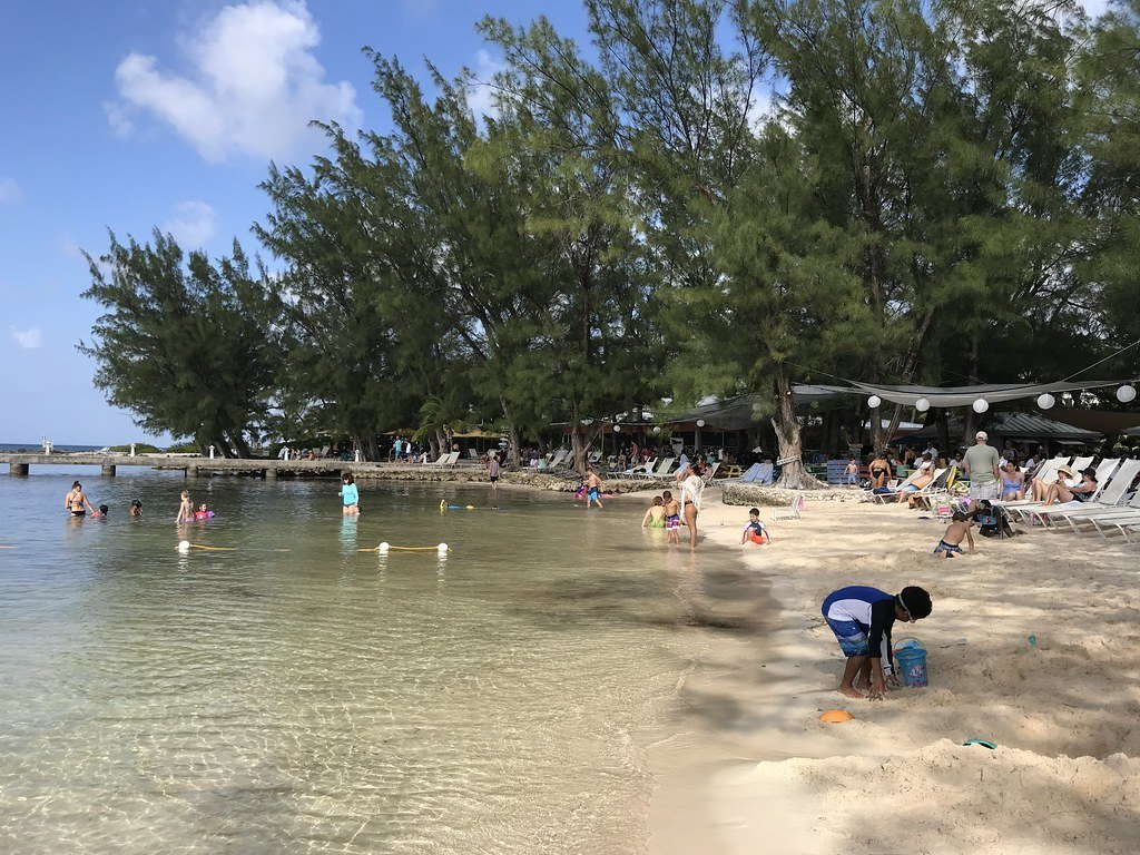 Shallow water at Rum Point in the Cayman Islands Photo Heatheronhertravels.com