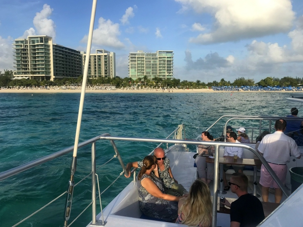 Sunset cruise on Grand Cayman from Kimpton Seafire, Cayman Islands Photo Heatheronhertravels.com