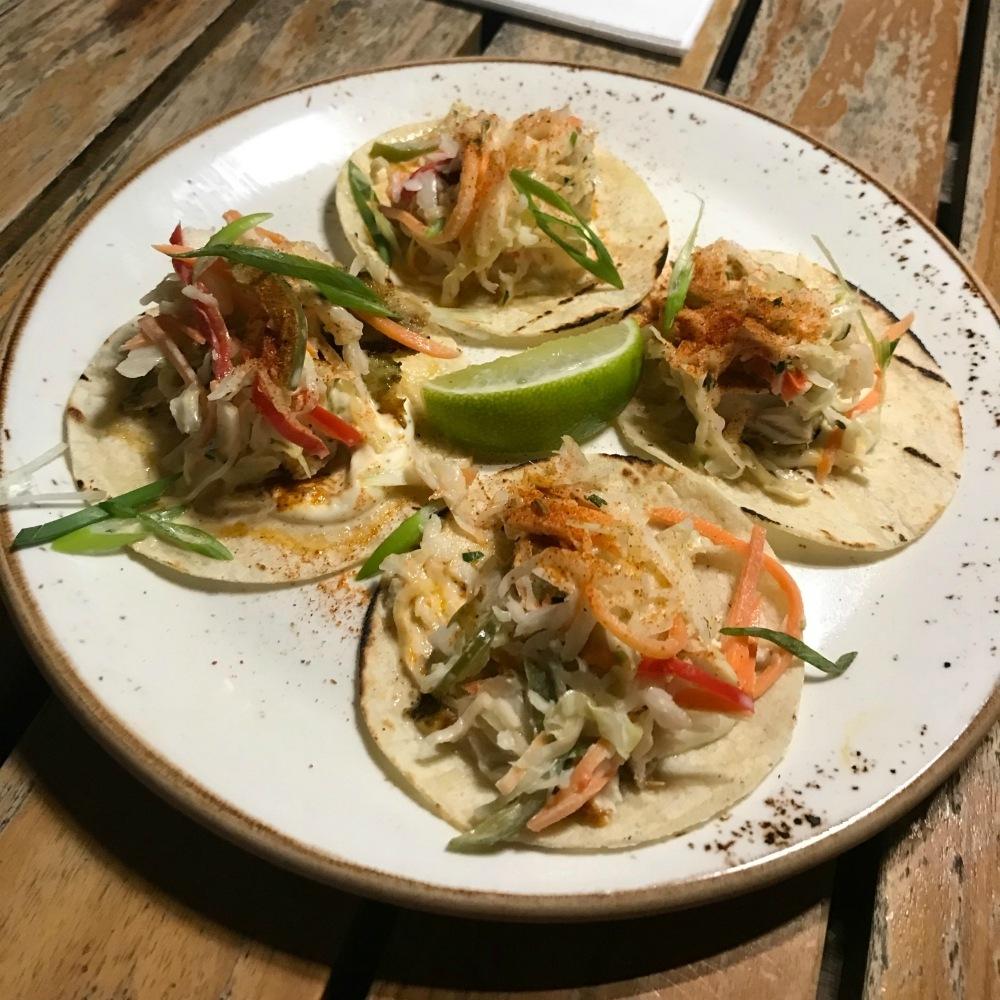 Tacos at Coccoloba at Kimpton Seafire Grand Cayman