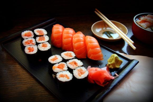 Try the sushi in Tokyo