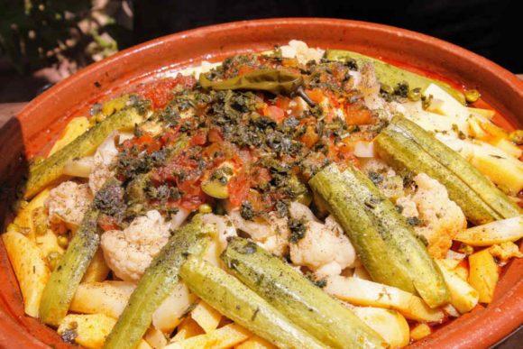 Delicious Moroccan vegetable tagine