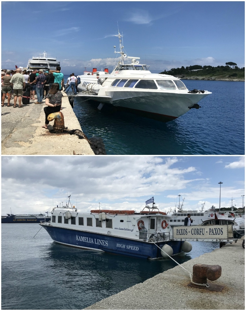 Ferries from Corfu to Paxos Photo Heatheronhertravels