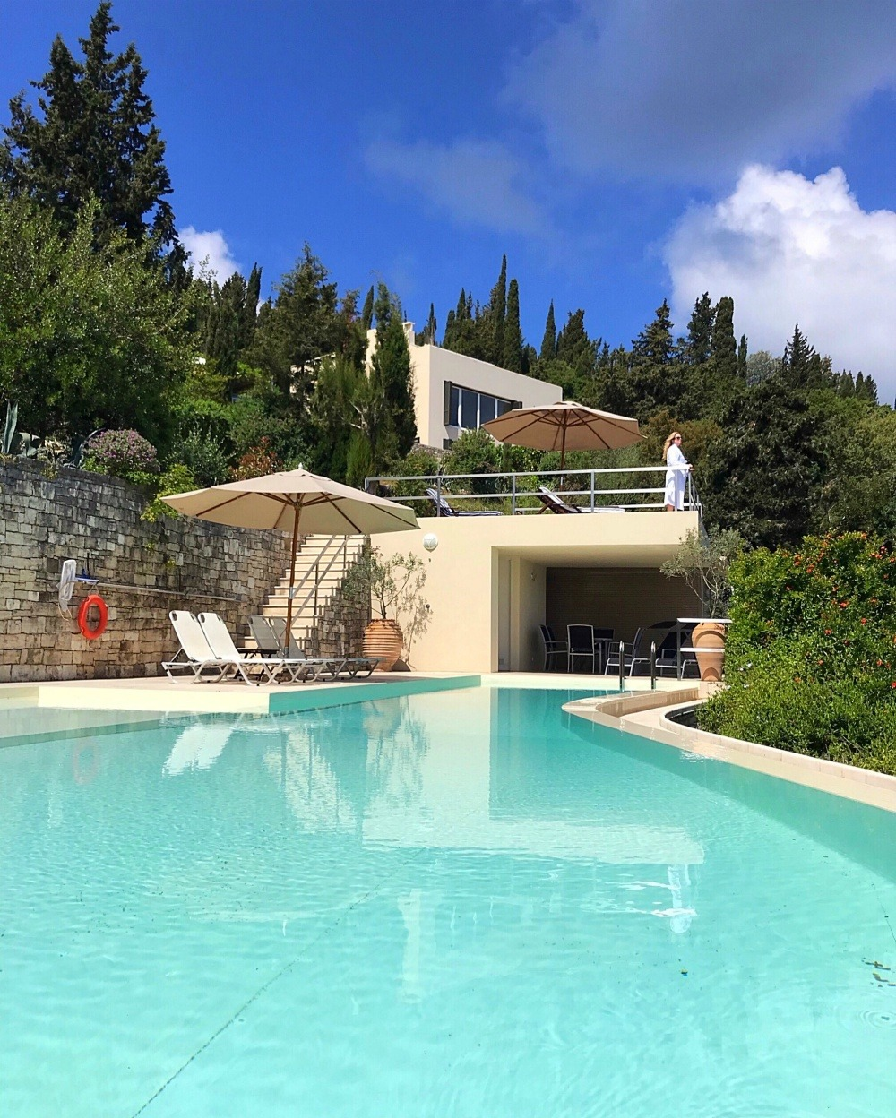 Luxury Paxos Villa Greece - Villa Glaros pool Photo Heatheronhertravels