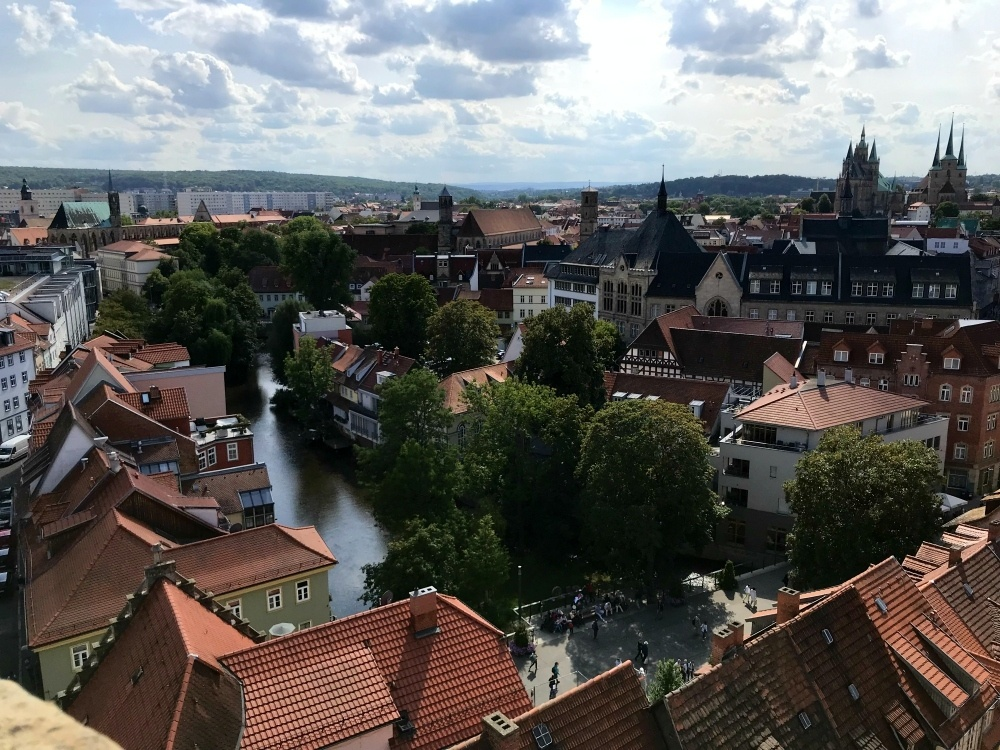 View from Church Tower in Erfurt, Thuringia, Germany Photo Heatheronhertravels.com