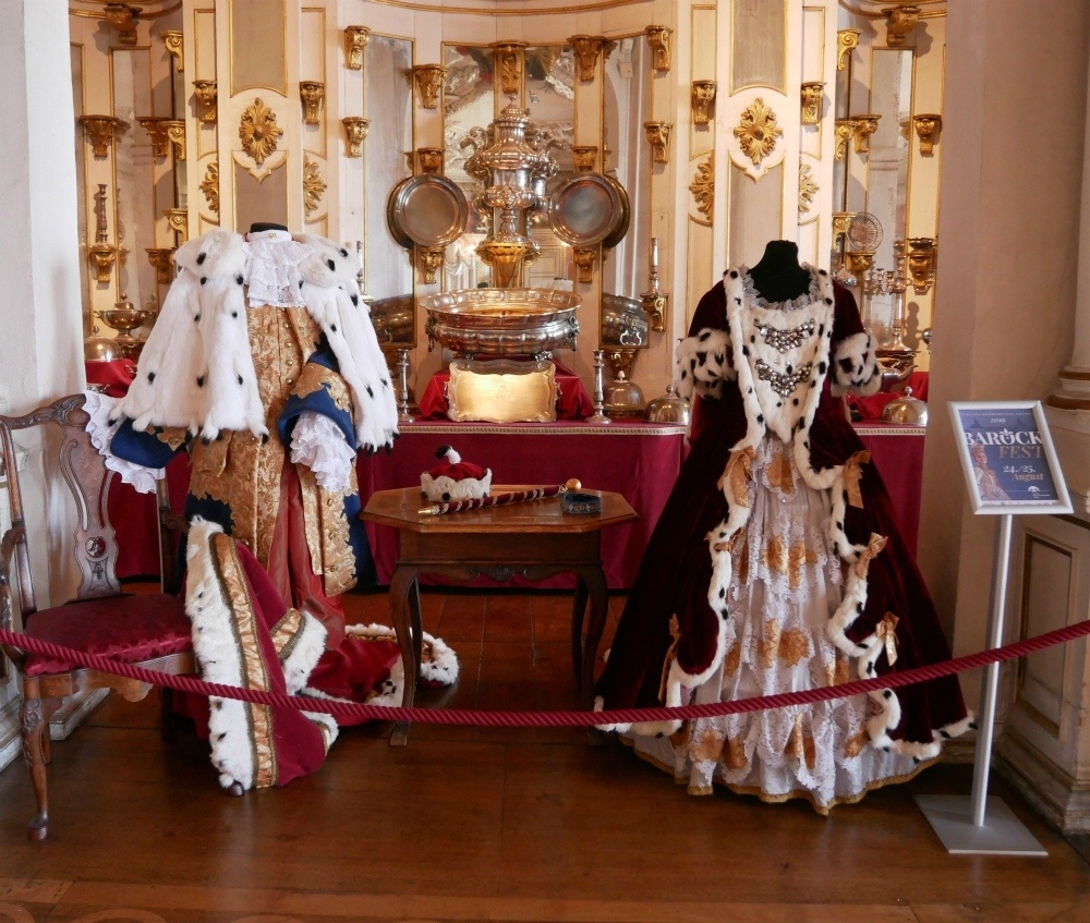 Baroque costumes Friedenstein Palace in Gotha, Thuringia, Germany Photo Heatheronhertravels.com